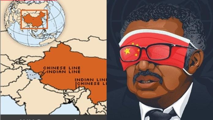 भारत नक्शा, लद्दाख, WHO, चीन