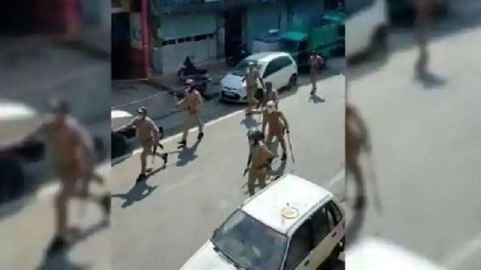 कानपुर, पुलिस पर पथराव