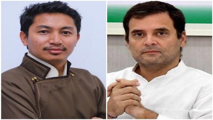 लद्दाख BJP सांसद लद्दाख चीन राहुल गाँधी