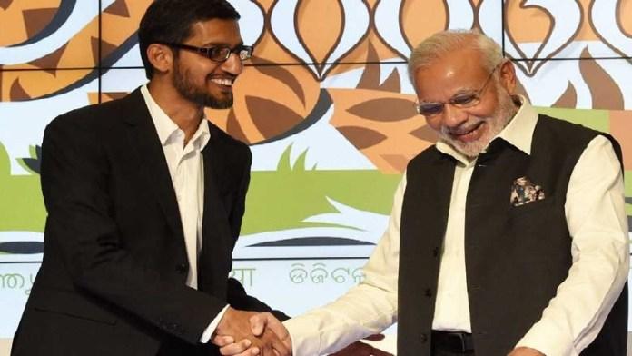 नरेंद्र मोदी, सुन्दर पिचाई, गूगल