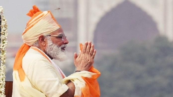 स्वतंत्रता दिवस पर प्रधानमंत्री मोदी