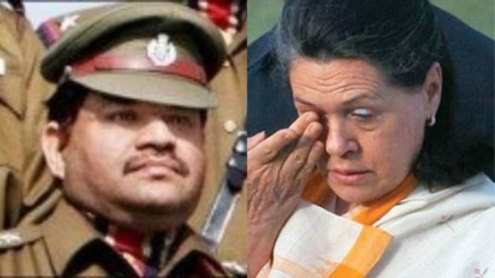बाटला हाउस में बलिदान हुए मोहन चंद शर्मा और कॉन्ग्रेस अध्यक्ष सोनिया गाँधी