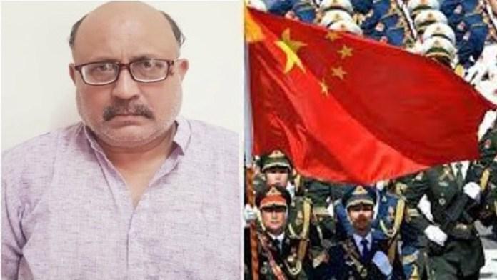 ग्लोबल टाइम्स ने राजीव शर्मा का बचाव किया