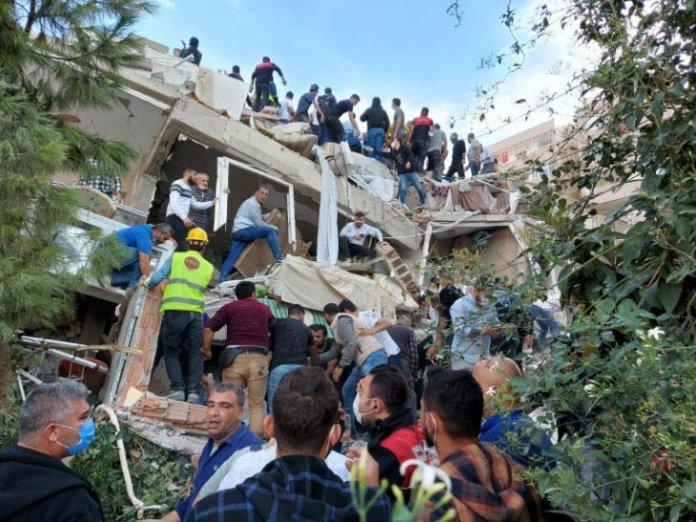 तुर्की और ग्रीस में भीषण भूकंप