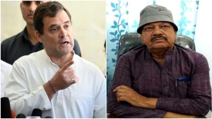 राहुल गाँधी और वरिष्ठ नेता फुरकान अंसारी