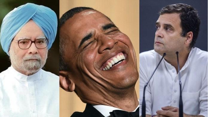 मनमोहन सिंह, बराक ओबामा, राहुल गाँधी