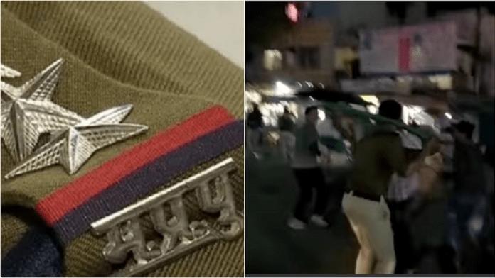 पुलिसकर्मी पर फायरिंग करने वाले अपराधी के साथियों का जुलूस