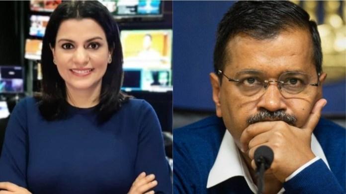 NDTV की पूर्व पत्रकार निधि राजदान और सीएम अरविंद केजरीवाल