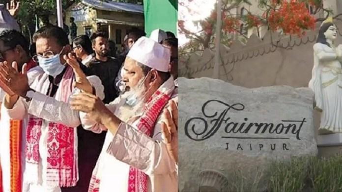 एआईयूडीएफ के 20 प्रत्याशियों को जयपुर लाया गया