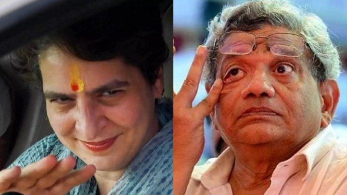 प्रियंका गाँधी, सीताराम येचुरी