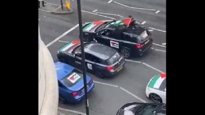 लंदन में फिलिस्तीन समर्थक प्रदर्शन में यहूदियों को गाली