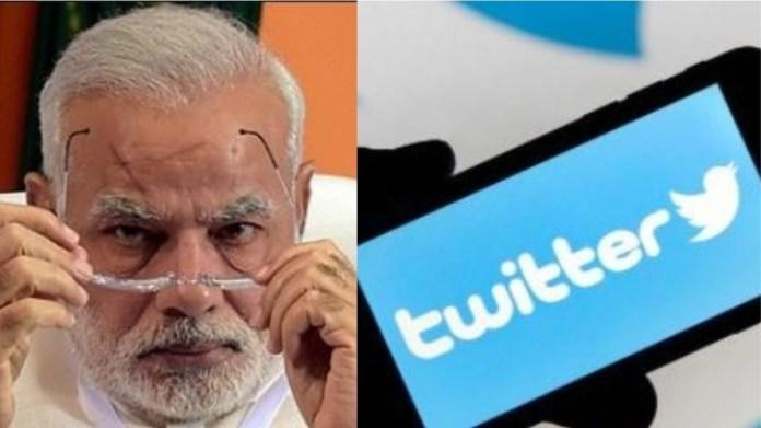 ट्विटर, मोदी सरकार