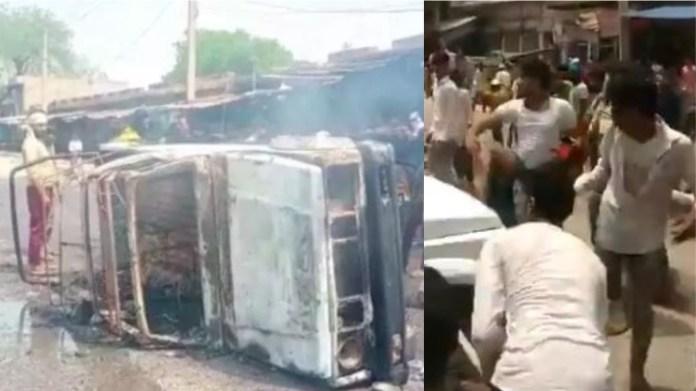 मेवात में पुलिस पर हमला