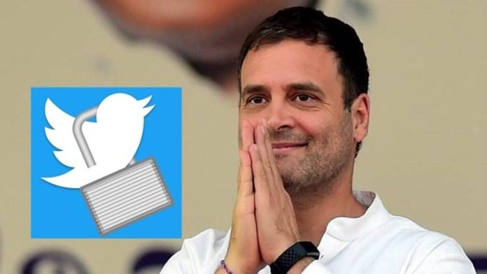 राहुल गाँधी, ट्विटर