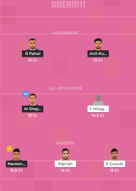 DEL vs TAM Dream11 Team