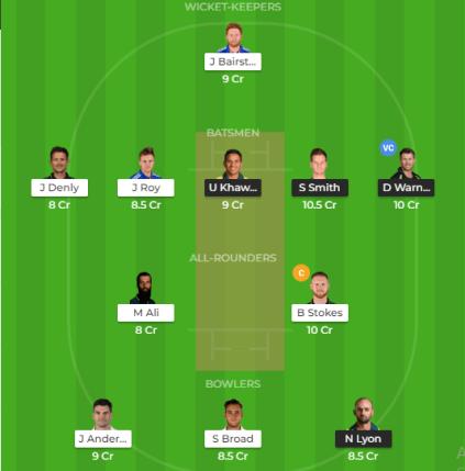 Eng vs Aus 1st Test Dream11 Prediction
