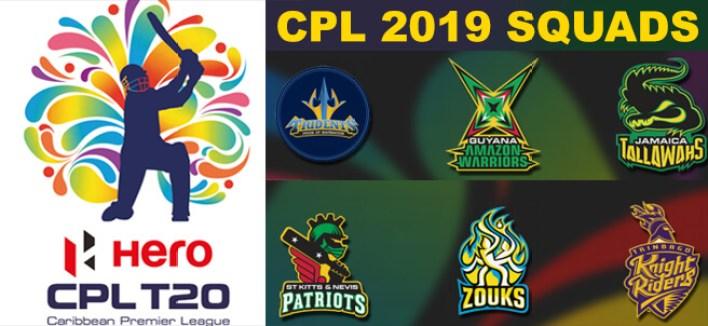 Caribbean Premier League 2019 squads