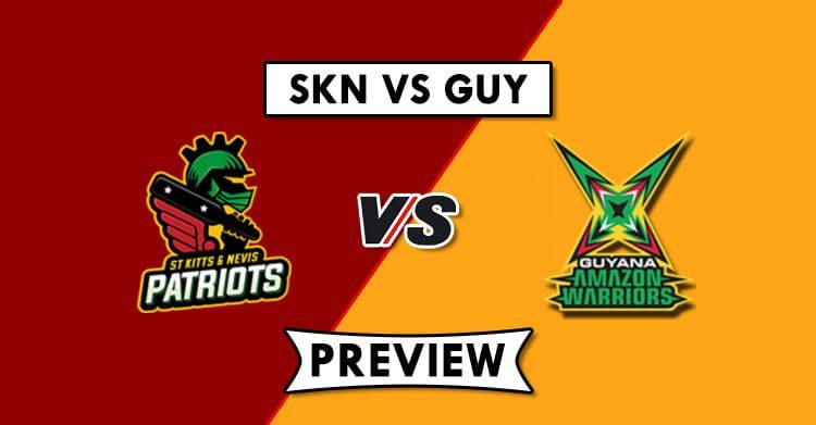 SKN vs GUY Dream11 Prediction