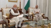 Narendra Modi with RamNath Kovind