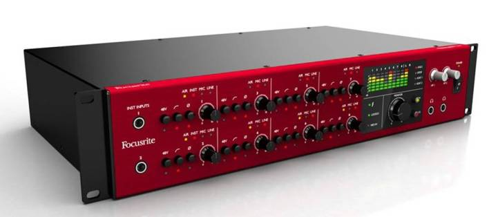 Focusrite Rackmounted Interfaces for Music Production