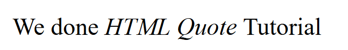 cite element output in html