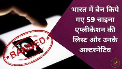 Photo of भारत में बैन किये गए 59 चाइना एप्लीकेशन की लिस्ट और उनके अल्टरनेटिव