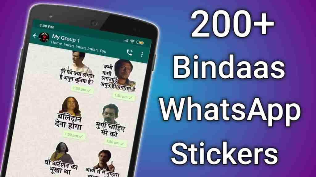 200+ Bindaas Hindi WhatsApp Sticke For Android 2020 - Hindi