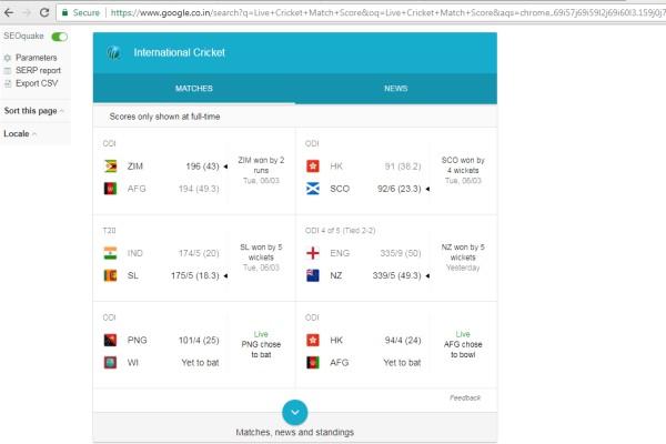 Live Cricket Match Score Kaise Dekhe