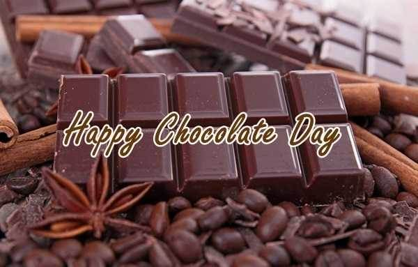 Chocolate day photo frame