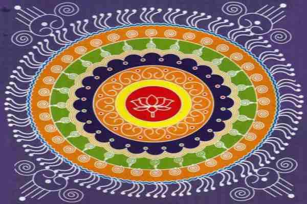 Durga ashtami rangoli