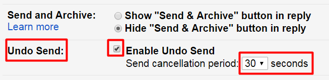 possible undo send gmail