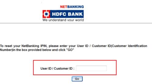 generate hdfc mobile banking ipin