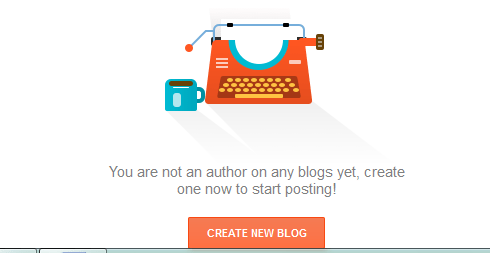 create new blog option
