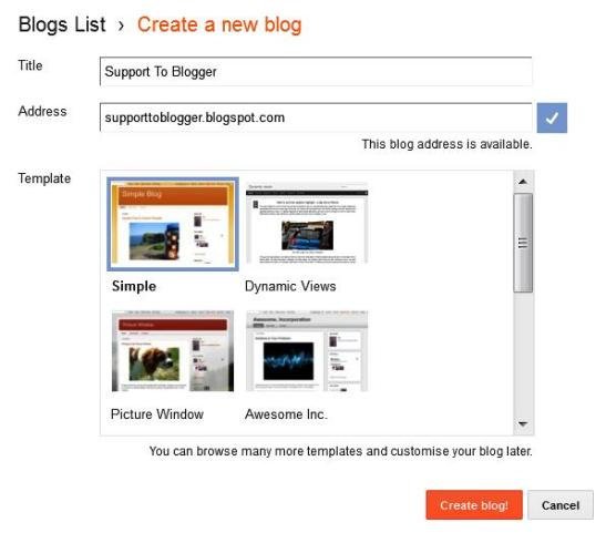 set blog title and url