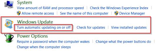 windows updates disable