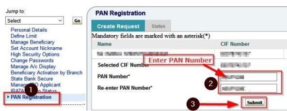 sbi bank account me Pan Card Link kare