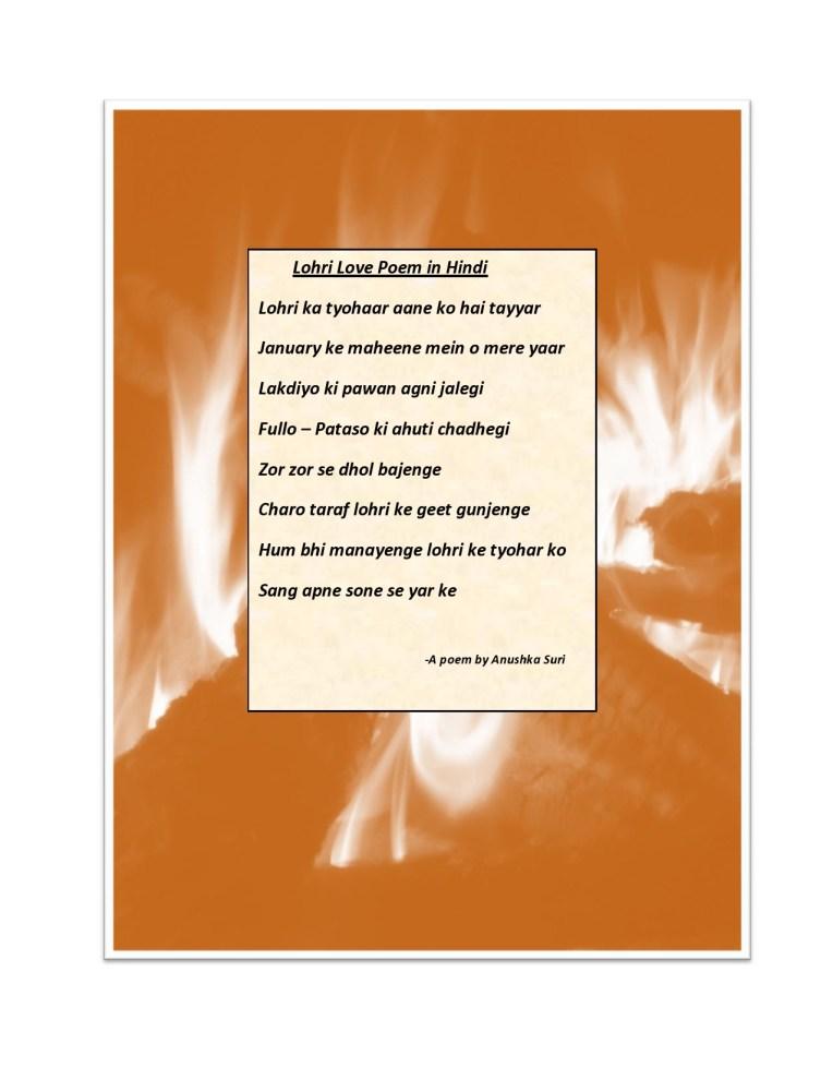 Lohri Love Poem in Hindi