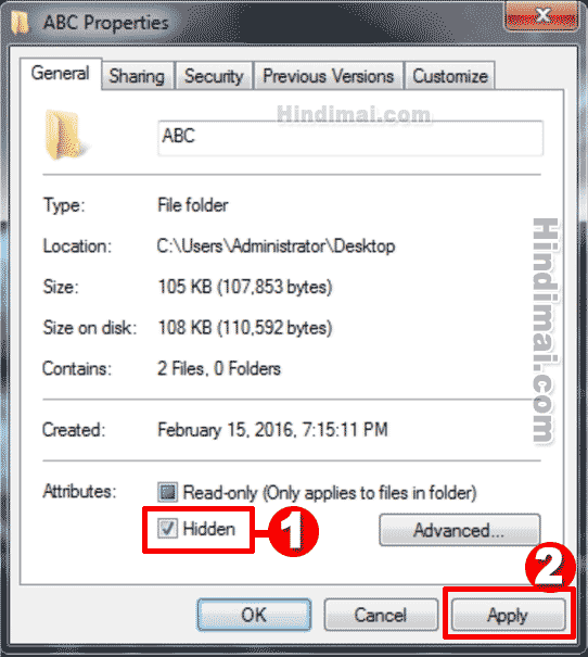 Folder or File Ko Kaise Chupate Hai Hide Folder in Hindi , Hide Folder , Hidden Folder , Hide folder on desktop computer par folder or file ko kaise chupate hai hide folder in hindi Computer Par Folder or File Ko Kaise Chupate Hai Hide Folder in Hindi Computer Par Folder or File Ko Kaise Chupate Hai Hide Folder in Hindi 005