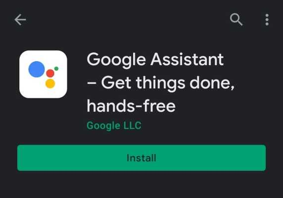 How to install google assistant.