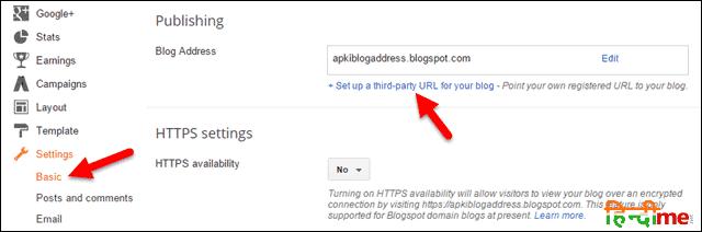 Blogger Basic Settings