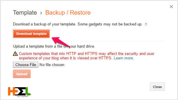 Blogspot blog template backup