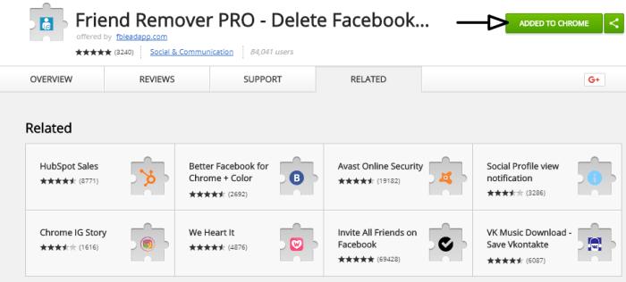 facebook friend remover
