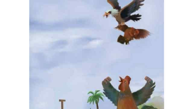 लड़ने वाले मुर्गे और बाज Moral Story in Hindi