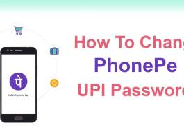 phonepe upi pin change