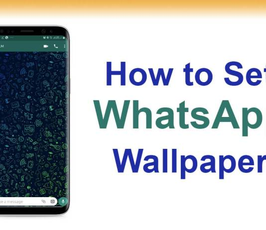 whatsapp wallpaper not changing
