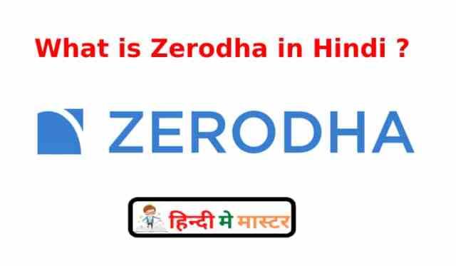 What is Zerodha in Hindi ?