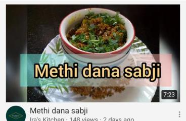 Methi dana sabji recipe