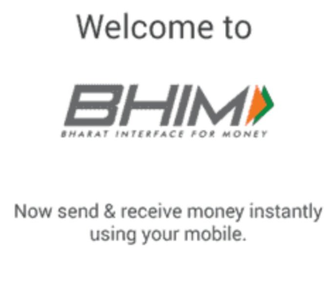 Transfer Money Bhim app