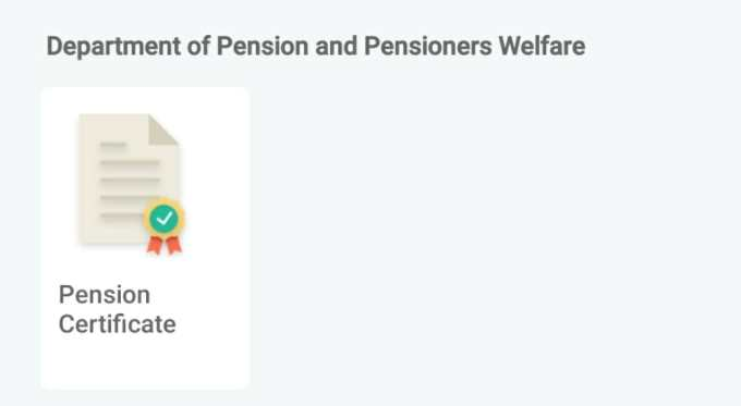 Department of Pension and Pensioners Welfare