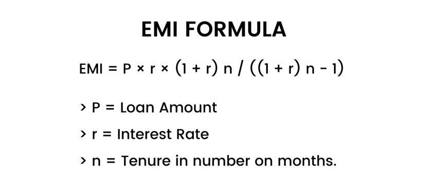 Formula to calculate emi